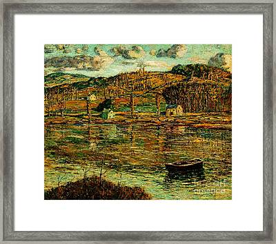 Sunlight On The Harlem River 1919 Framed Print