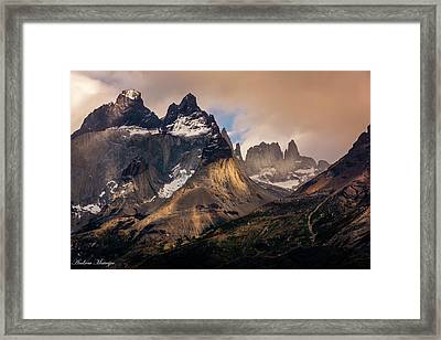 Sunlight On The Mountain Framed Print by Andrew Matwijec