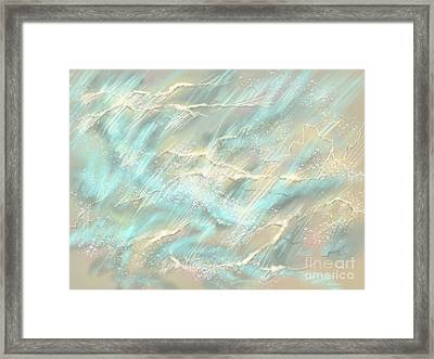 Framed Print featuring the digital art Sunlight On Water by Amyla Silverflame