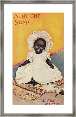 Sunlight Soap So Clean And White Framed Print