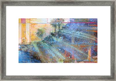 Framed Print featuring the painting Sunlight Streaks by Andrew King