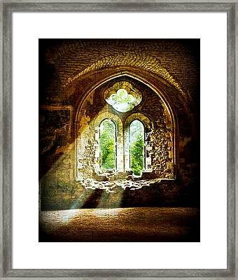Sunlight Through The Ruins Framed Print