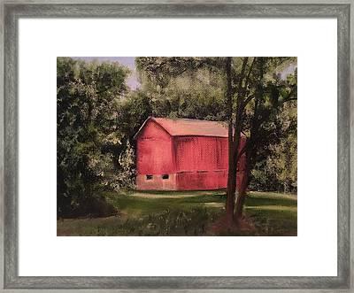 Sunlit Barn Framed Print