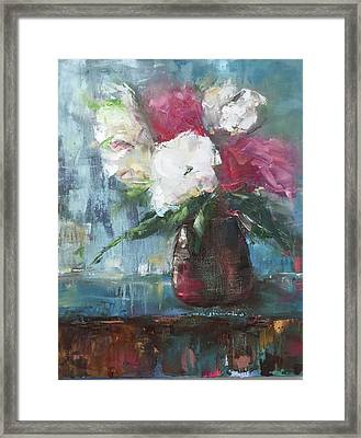 Sunlit Bouquet Framed Print