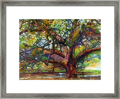 Sunlit Century Tree Framed Print by Hailey E Herrera