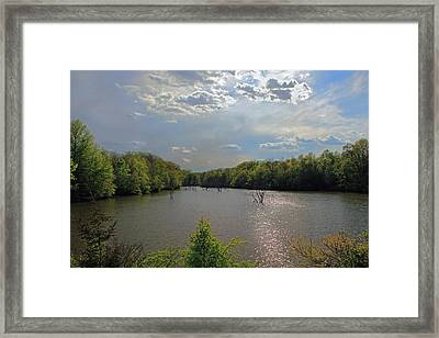 Sunlit Clouds Framed Print