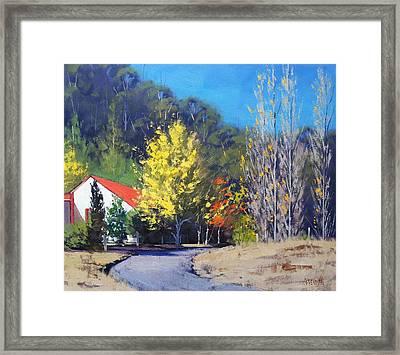 Sunlit Corner Framed Print