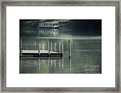 Sunlit Dock Framed Print by Todd A Blanchard