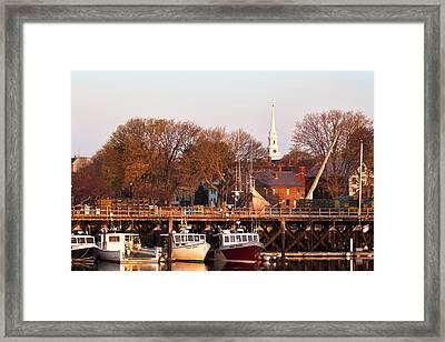 Sunlit Fishing Fleet Framed Print by Eric Gendron