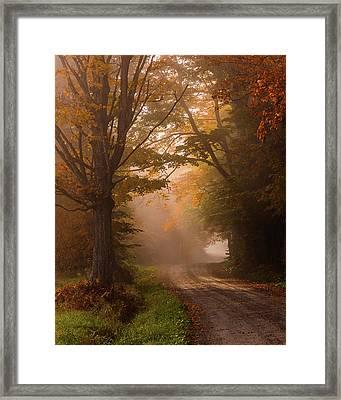 Serenity Of Fall Framed Print