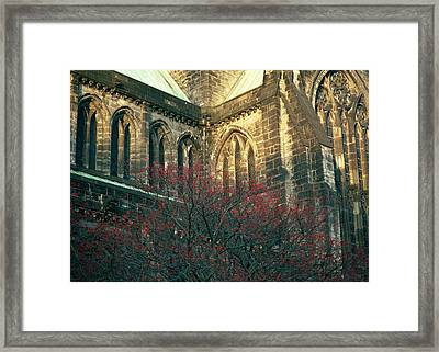 Sunlit Glasgow Cathedral Framed Print