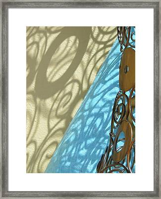 Sunlit In Swirls Framed Print by Gail Butters Cohen