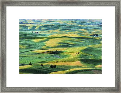 Sunlit Lands II Framed Print by Jon Glaser