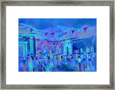 Sunlit Market Framed Print by Joan  Jones