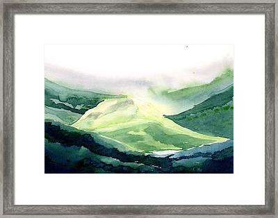Sunlit Mountain Framed Print by Anil Nene