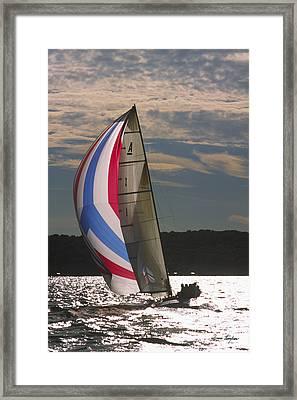 Sunlit Sails - Lake Geneva Wisconsin Framed Print by Bruce Thompson