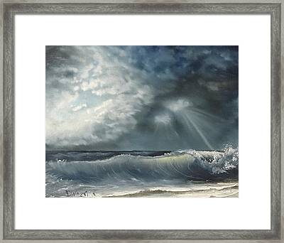 Sunlit Sea Framed Print
