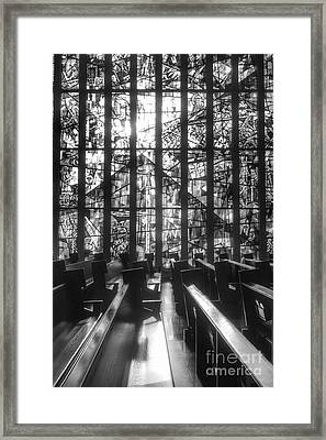 Sunlit Stained Glass At Czestochowa Shrine, Pa Framed Print