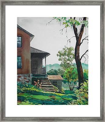 Sunlit Steps Framed Print by Faye Ziegler