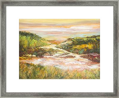 Sunlit Stream Framed Print by Glory Wood