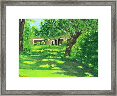 Sunlit View Framed Print by Charles Vaughn