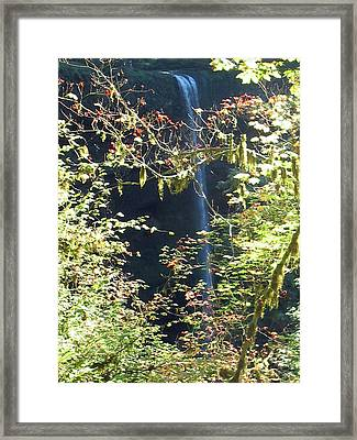 Framed Print featuring the photograph Sunlite Silver Falls by Thomas J Herring