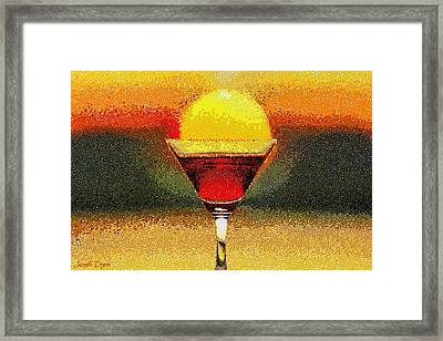 Sunned Wine - Da Framed Print by Leonardo Digenio