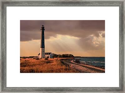 Sunny Afternoon At Sareema Island Coast Framed Print