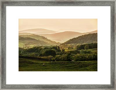 Sunny Afternoon In Lake District Framed Print