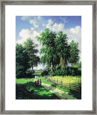 Sunny Afternoon In The Meadows Framed Print