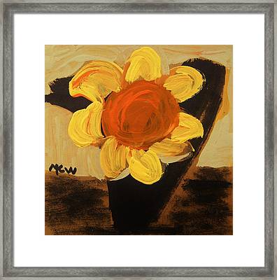 Sunny And Black Framed Print by Mary Carol Williams