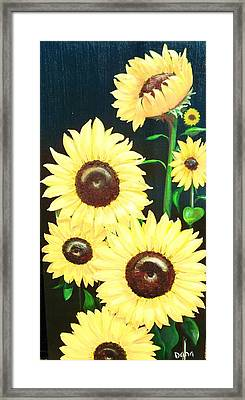 Sunny And Share Framed Print by Dana Redfern