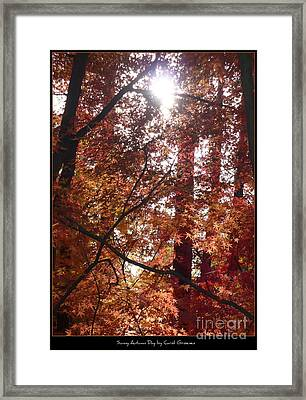 Sunny Autumn Day Poster Framed Print by Carol Groenen