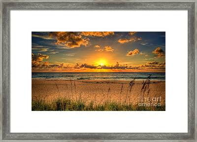 Sunny Beach To Warm Your Heart Framed Print by Rod Jellison