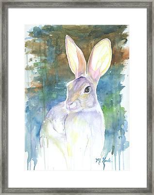 Sunny Bunny Framed Print