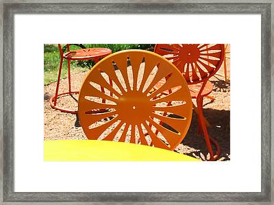 Sunny Chairs 4 Framed Print by Geoff Strehlow