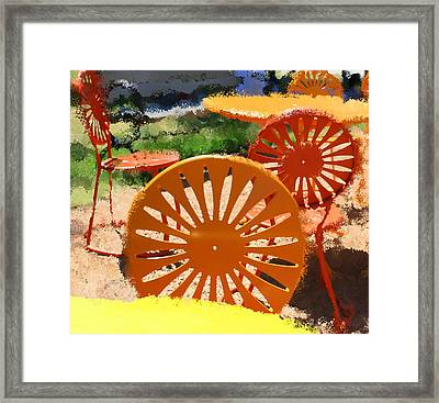 Sunny Chairs 5 Framed Print by Geoff Strehlow