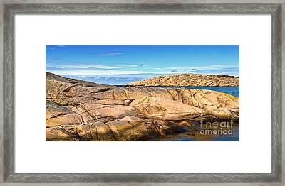 Sunny Cliffs Sweden Framed Print by Lutz Baar