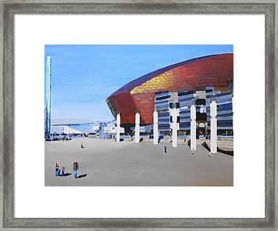 Sunny Day At Cardiff Bay Framed Print