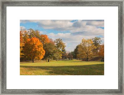Sunny Day In Autumn Framed Print by Tom Mc Nemar