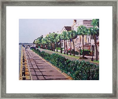 Sunny Day In Charleston Framed Print