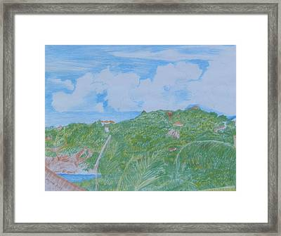 Sunny Day In Guana Bay Framed Print by Margaret Brooks