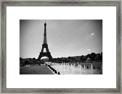 Sunny Day In Paris Framed Print by Kamil Swiatek