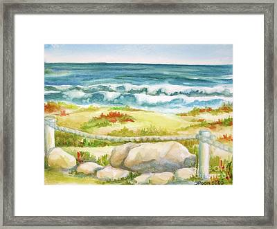Framed Print featuring the painting Sunny Day On Cocoa Beach by Inese Poga
