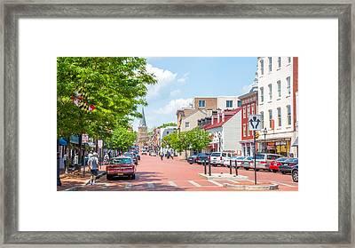 Sunny Day On Main Framed Print
