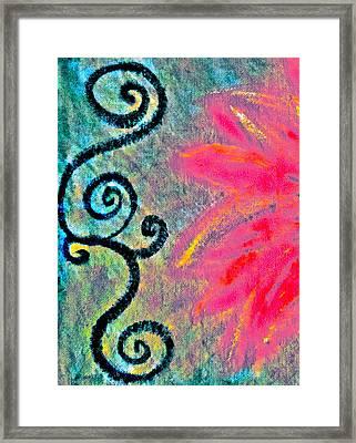 Sunny Day Pink Framed Print by Gwyn Newcombe