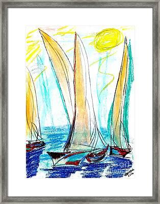 Sunny Day Sailing Framed Print