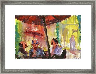 Sunny Day With Friends Framed Print by Kristina Vardazaryan