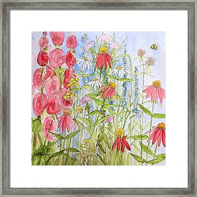Framed Print featuring the painting Sunny Days by Laurie Rohner