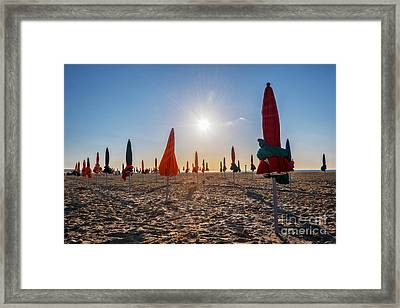 Sunny Deauville Framed Print by Delphimages Photo Creations